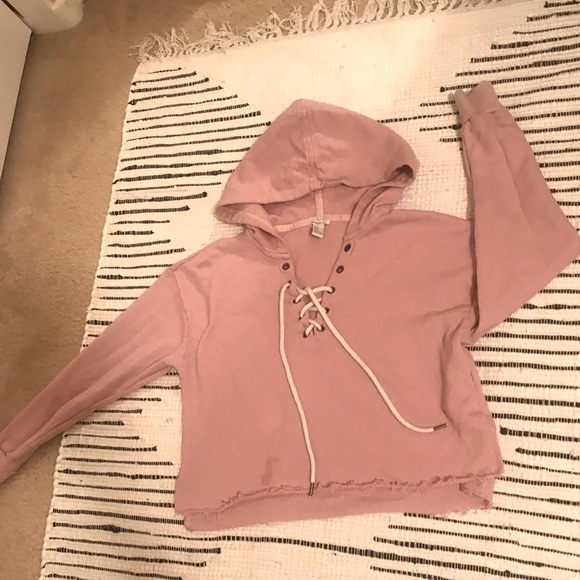 454caa2d Forever 21 Other | Dusty Rose Crop Hoodie | Poshmark